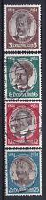 Briefmarken Dt. Reich 540-543 y gestempelt, Kolonialforscher (Var. 6)