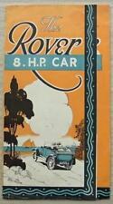 ROVER 8 HP Car Sales Brochure c1924
