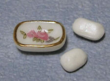Soap & Dish, Dolls House Miniatures, Bathroom Accessory 1.12 Scale