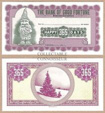 The Bank Of Good Fortune UNC Christmas XMAS Cheque / Banknote - Tree Elf
