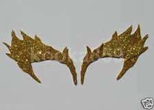 Poison Ivy Eyebrows Gold Leaf Extreme Glitter mask costume Riddler Uma Cosplay
