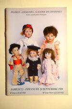 catalogue vente enchères Chartres POUPEES MUSIQUE MECANIQUE 09/1989 DOLLS
