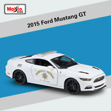 1:24 Modified 2015 Ford Mustang GT Police Racing Vehicle Diecast Car Model Toys
