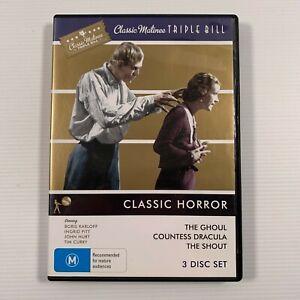 Classic Matinee Triple Bill - Classic Horror (DVD, 2010, 3-Disc Set) Region 4