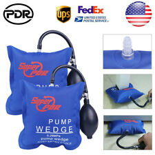 US 2pc Air Wedge Pump Inflatable Shim Cushioned Bag Car Windows Door Hand Tools