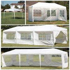 10' 20' 30' White Outdoor Wedding Party Tent Patio Gazebo Canopy with Side Wall