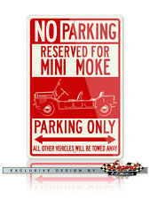 Austin Mini Moke Reserved Parking Only 12x18 Aluminum Sign