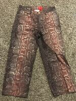 V Cristina Women's Cropped Pants Size P4 Cotton Blend Glitter A41