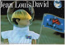 PUBLICITE ADVERTISING 105  2002  JEAN- LOUIS DAVID  coiffeur  ( 2p) pour l'OREAL
