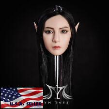 "1/6 Fairy Female Head Sculpt Detachable Ears SUNTAN For 12"" PHICEN Figure ❶USA❶"