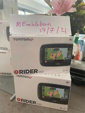 NEW – TomTom Rider 550 World Maps Motorcycle GPS Satellite Navigation- UK based