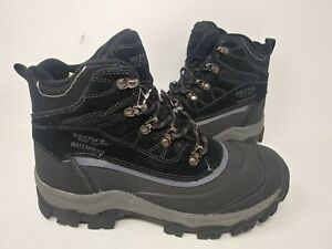 NEW! Smiths Mens Edgewater IV Waterproof Cushioned Boots Black #SM029516 143D