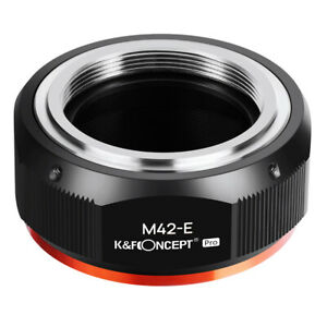 K&F Concept Adapter Pro for M42 Screw mount Lens to Sony E NEX Camera A6500 A7S