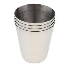4× Wine Beer Coffee Whiskey Milk Mugs Outdoor Travel Camping Metal Cups