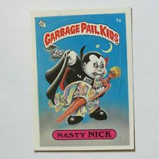 1985 Topps Garbage Pail Kids 1st Series #1a Nasty Nick Printed in USA Centered