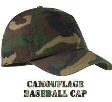 Mens CAMO Baseball Cap Camouflage 100% Cotton Army Fishing Camping Hunting