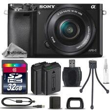 Sony Alpha a6000 Mirrorless Digital Camera + 16-50mm Lens + EXT BATT- 32GB Kit