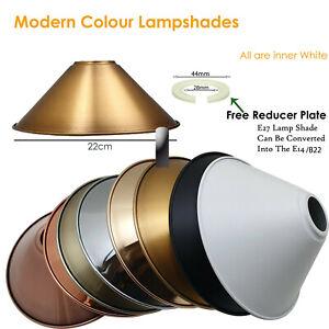 Vintage Industriell Decke Anhänger Lampenschirme Easy Fit Metall Lampe Schirm UK