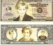 Diana Princess of Wales Commemorative Dollars Bills x 2 Royalty