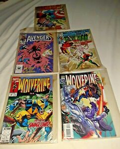 LOT OF 5 MARVEL COMIC BOOKS /Wolverine /Ironman