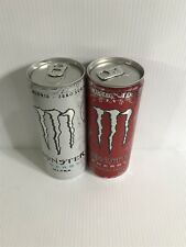 Monster Energy Drink Ultra White & Ultra Red 250ml Full Cans