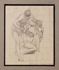 Original 1870s nude study, by Austrian Josef Neugebauer (1810–1895) estate stamp