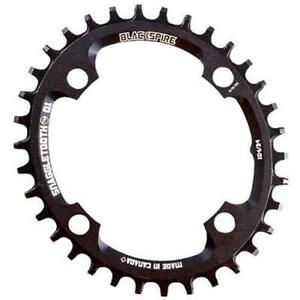 BLACKSPIRE Snaggletooth Narrow Wide Chainring Oval 4 Arm 104Mm Black 34T