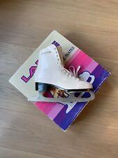 "New listing Lange ""Libra� Girls' White Single Blade Laced Ice Skates Size 6 With Box"