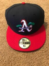 Vintage Asheville Tourists  New Era On Field Cap Size 6 7/8 MILB Made In USA