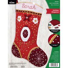 Holiday Elegance Bucilla Beaded Felt Stocking Kit 84306