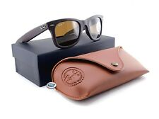 Ray-Ban WAYFARER LEATHER POLARIZED Sunglasses | RB2140QM  Brown / P3+ Brown Lens
