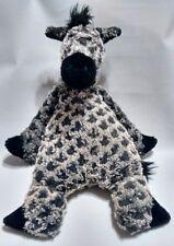 """Jellycat Horse Gray Black Spotted Appaloosa Bunglie 17"""" Plush Stuffed Rare"""
