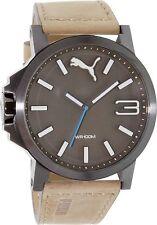 Nuevo Puma PU103461017 Marrón Plateado 50 Reloj - 2 Año de Garantía