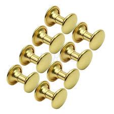 100 Borchie Sfuse Tondo con Rivetti Oro 9mm Decorazione Borse Scarpe Cintura