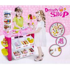 Children Role Play Kids Toy Dessert Shop Super Store Luxury Supermarket Play Set