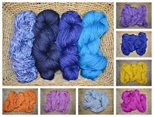 Super Chunky Large 200 gr Carded Dyed Wool Skein Hand spun Natural Knitting Yarn