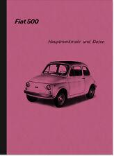 FIAT 500 R 1973 Caratteristiche principali istruzioni di riparazione istruzioni di montaggio 500r Manual