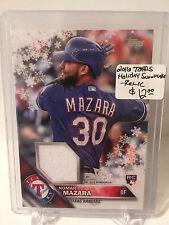 2016 Topps Holiday Snowflake RELIC #RNM Nomar Mazara RC - Texas Rangers