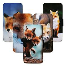 Adorable Red Fox Animals Flip Phone Case Cover Wallet - Fits Iphone 5 6 7 8 X 11