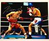JULIO CESAR CHAVEZ SR Autograph Signed Oscar De La Hoya 11x14 Photo PSA/DNA COA