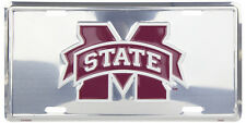 MISSISSIPPI STATE BULLDOGS CAR TRUCK TAG CHROME LICENSE PLATE MSU METAL SIGN