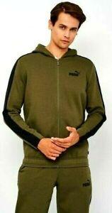 Puma Men's Adult Hooded Fleece Fashion Sport Track Suit Tracksuit  Khaki Black