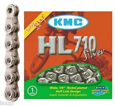 KMC HL710 Half Link BMX Chain Silver 104 Single Speed Track / Fixed Bicicleta