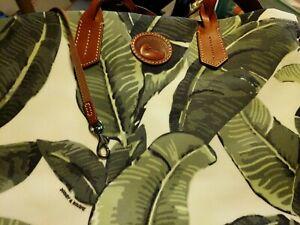 Dooney & Bourke WHITE Banana Leaf TOTE w/ braided handles