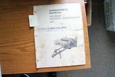 New Holland 477 Haybine Mower Conditioner Operators Manual