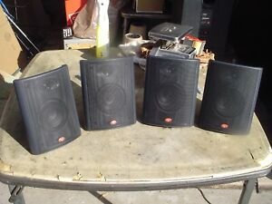 4 - Cerwin Vega 2-Way Black Satellite Stereo Speakers Model AVS L/R