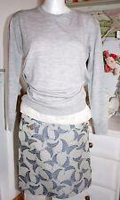 Noa Noa Pullover  Merino Knit  Grey Melange Langarm size: XL Neu