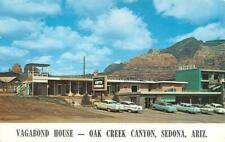 SEDONA, AZ Arizona  VAGABOND HOUSE~Oak Creek Canyon ROADSIDE 50's Cars  Postcard