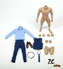 """ZC TOYS 1/6 Scale Gentleman Suit Clothes Blue Costume Set Fit 12"""" Male Figure"""