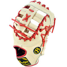 "Pro Victor Buckler Baseball PV1275FBIR 12.75"" FB  RHT First Base Glove Ivory/Red"